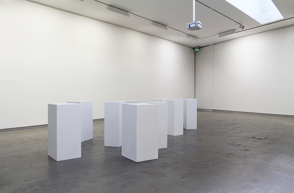 plinths-empty gallery-start or end of exhibition