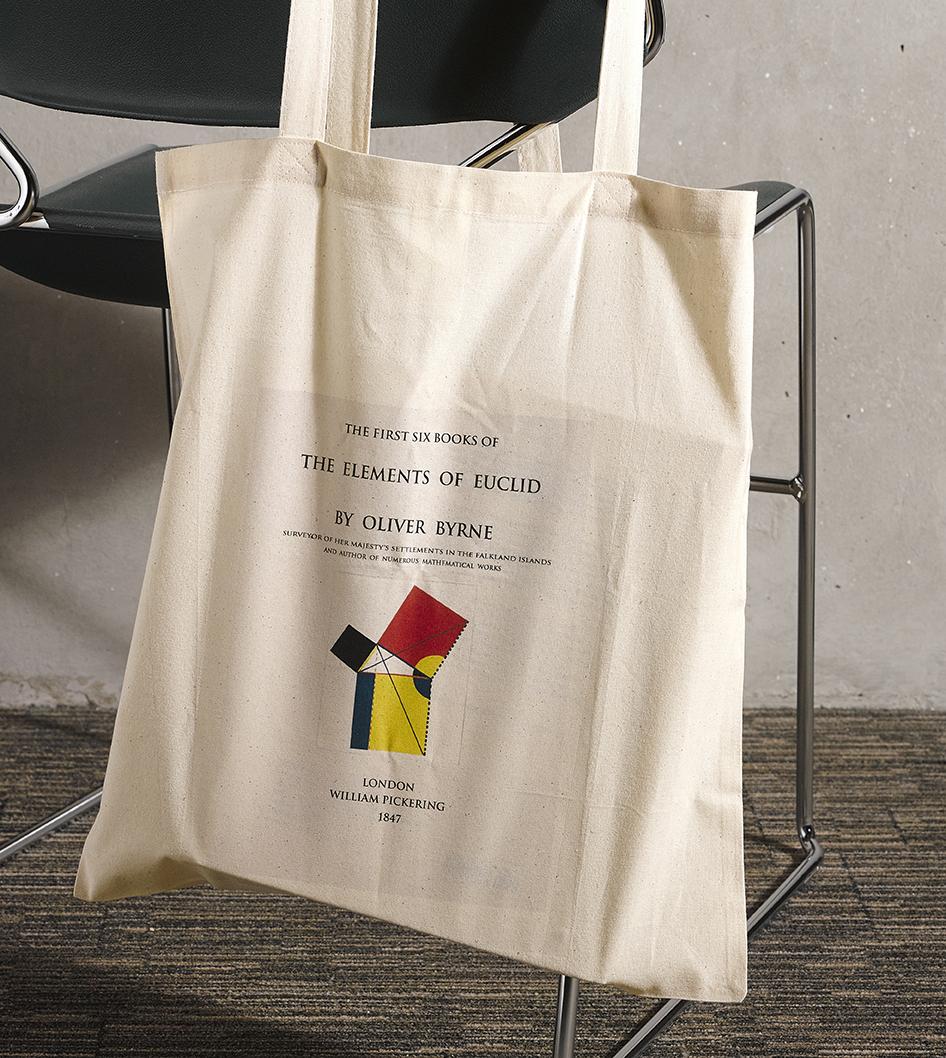 printed bag-Oliver Byrne-Elements of Euclid-geometry