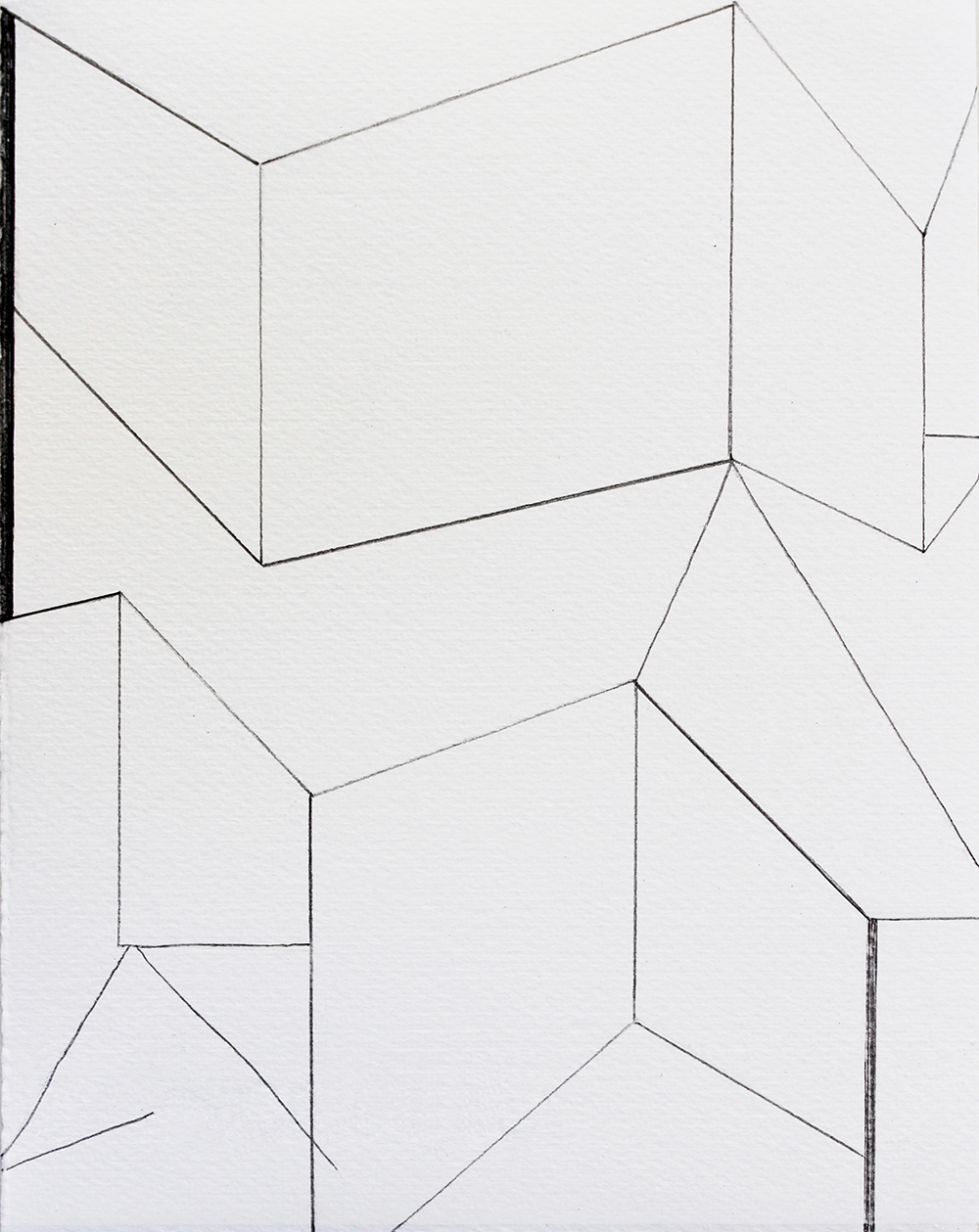 geometric-pencil drawing-on paper