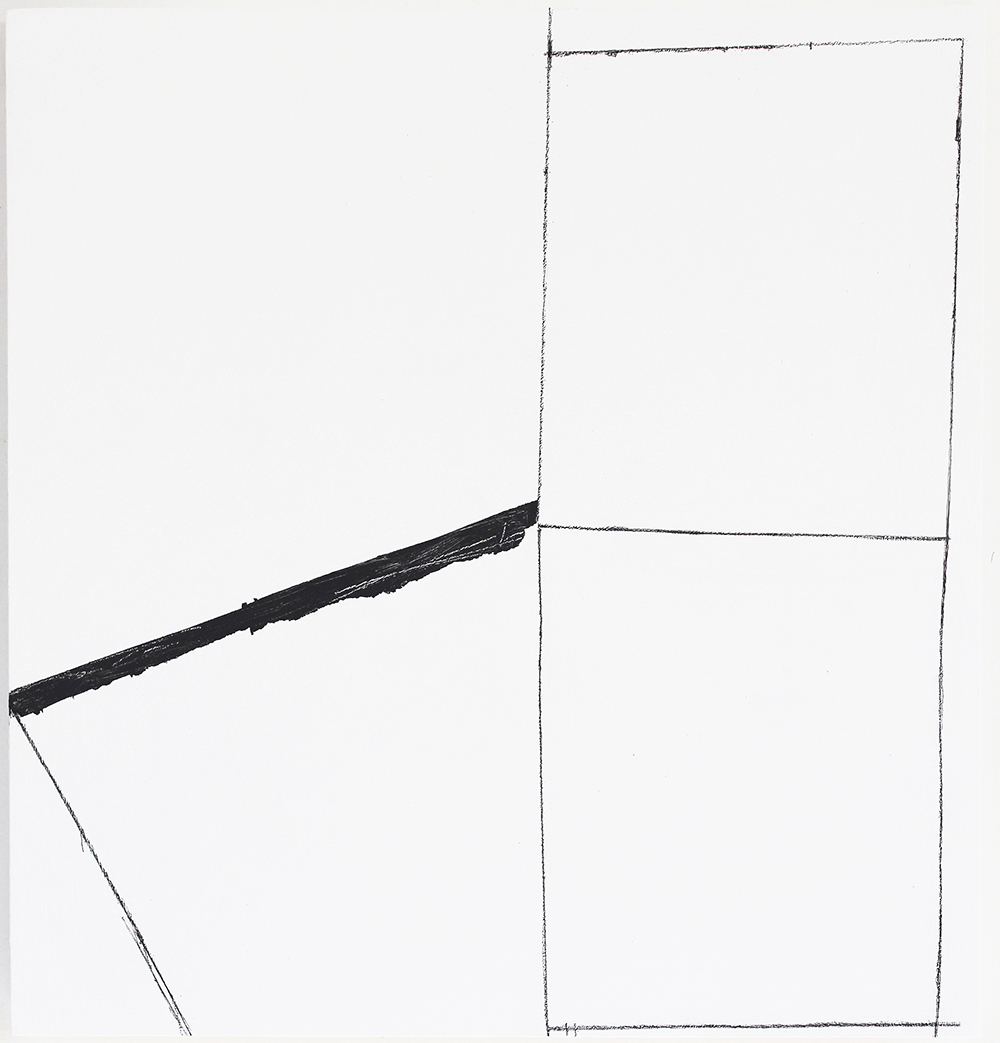 contemporary drawing-pencil lines-black paint-geometric