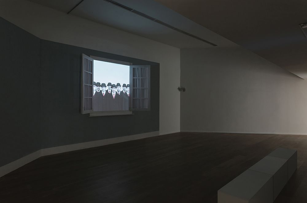 projected film-Magritte related-contemporary art installation-Everything We See...-Solstice Art Centre