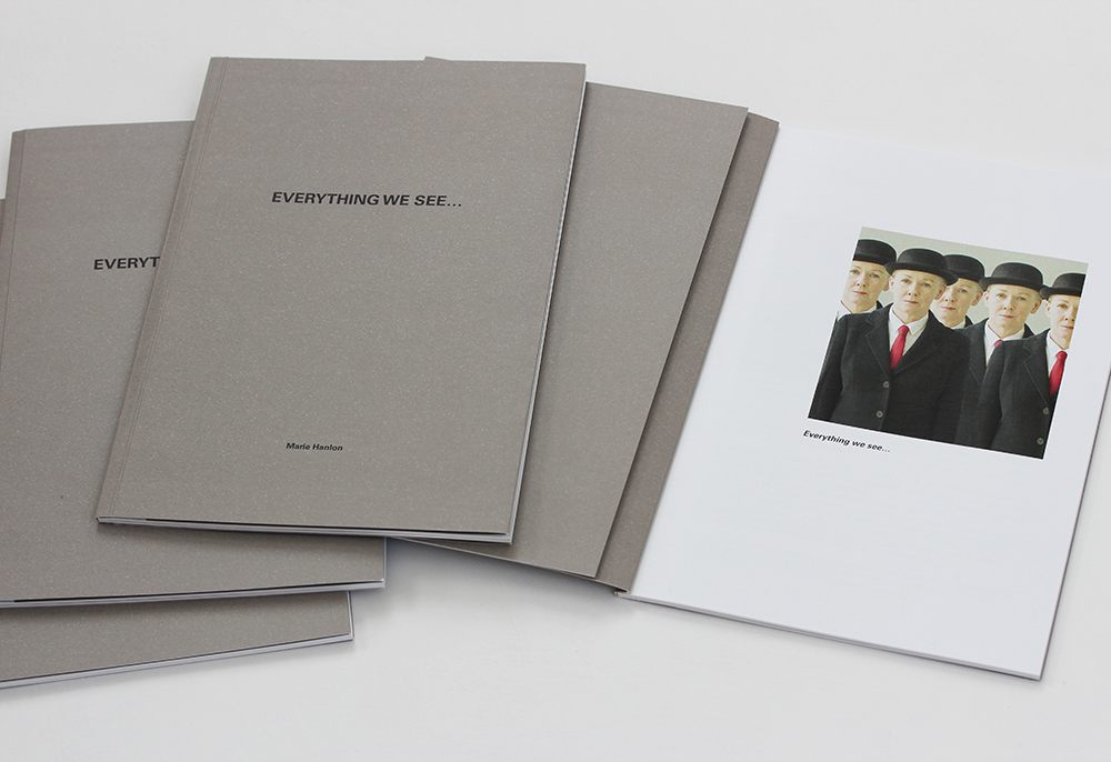 exhibition catalogue-Everything We See...-Magritte-bowler hatted figures